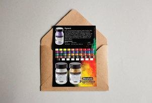 Schmincke Pigments Postcard Mockup